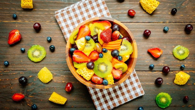 Mixed and assorted fruits Free Photo