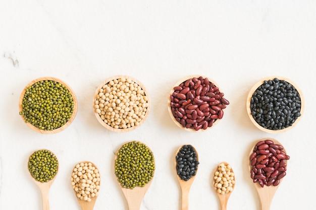 Mixed beans Free Photo