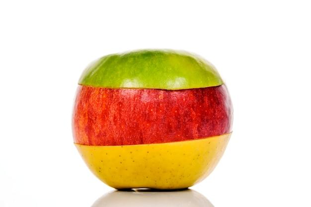 ミックスフルーツ、緑、黄、赤リンゴ Premium写真