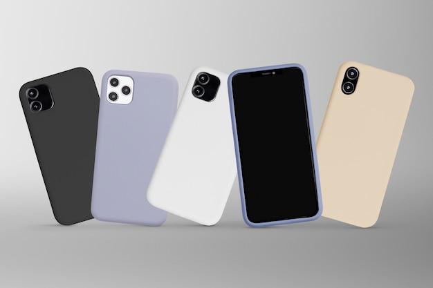 휴대 전화 화면 모형 디지털 장치 무료 사진