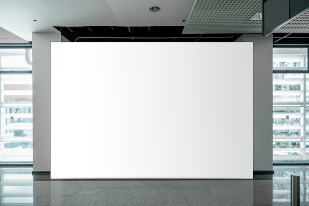 Mock up blank billboard white led screen vertical for advertising Premium Photo