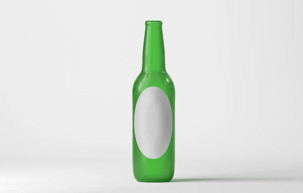 Mock up of a glass bottle Premium Photo