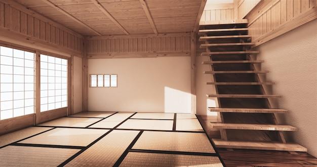 Mock up, japanese empty room tatami mat designing the most beautiful Premium Photo