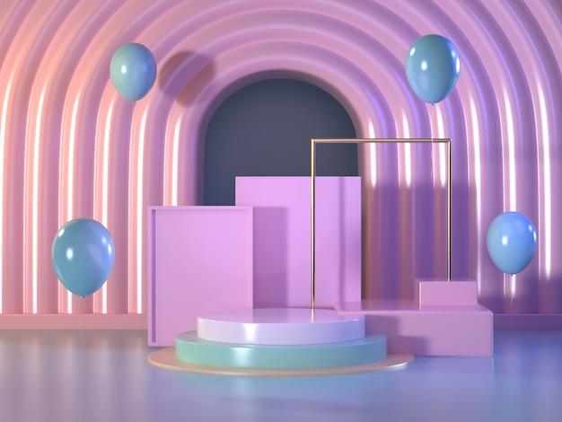 Mock up podium abstract scene.pastel podium scene. Premium Photo