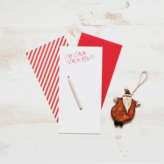 Mock up of santa claus letter Free Photo