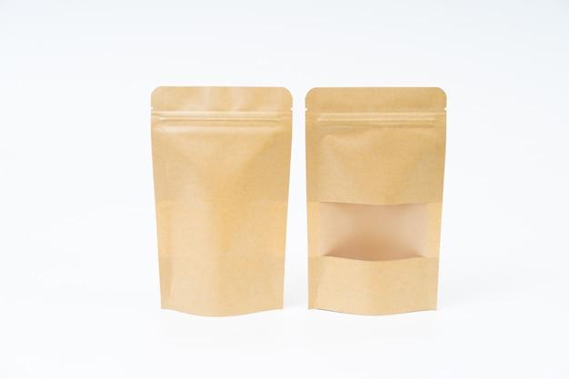 Макет закуски бумажный пакет на пустое пространство Premium Фотографии