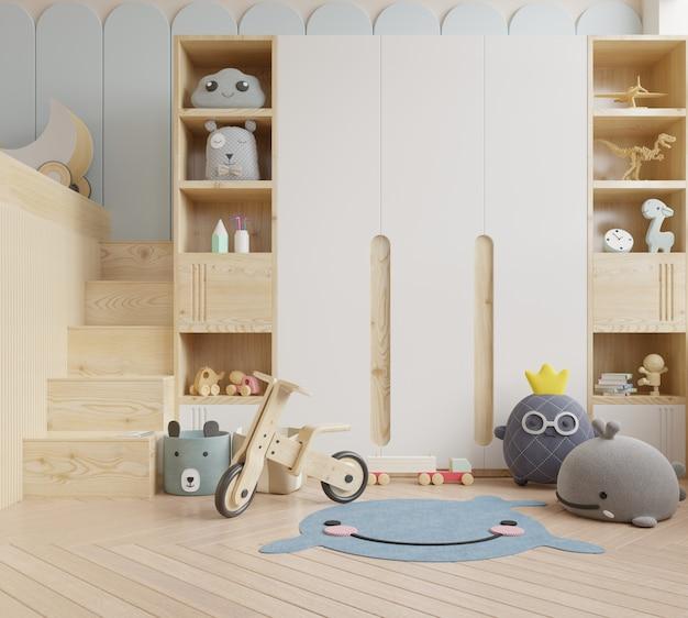 Макет стены в детской комнате в белой стене Premium Фотографии