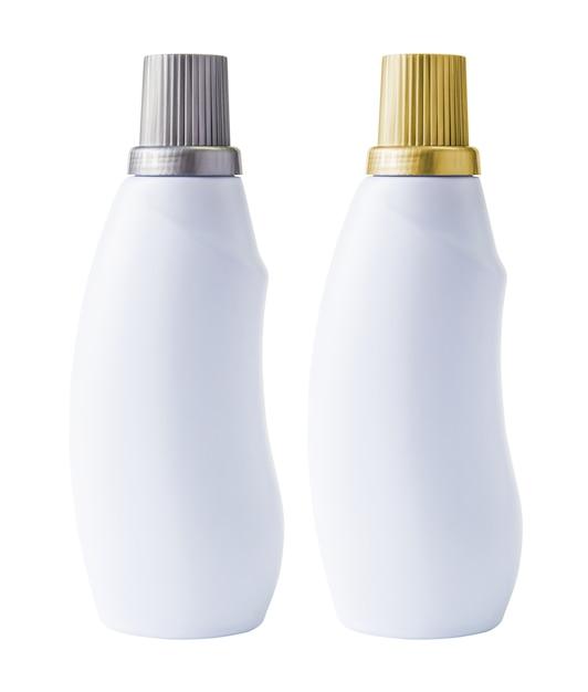 Макетная бутылка на белом фоне Premium Фотографии