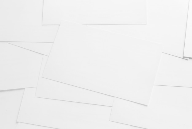 mockup of business cards on white textured paper