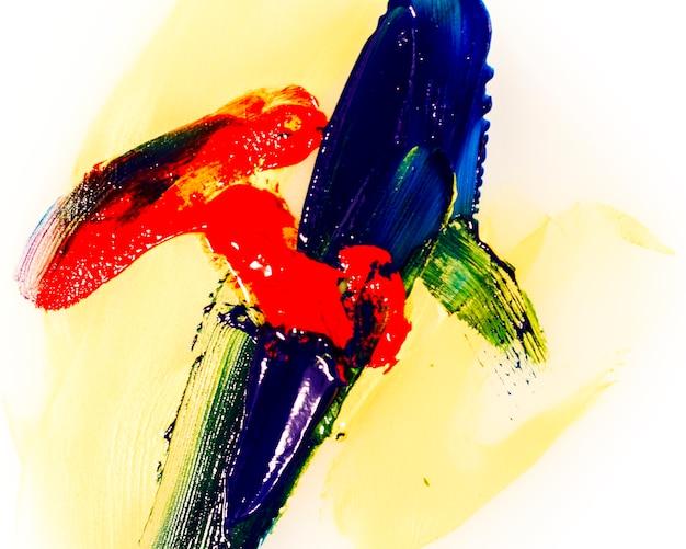 Модель красочных мазков на белом фоне Бесплатные Фотографии