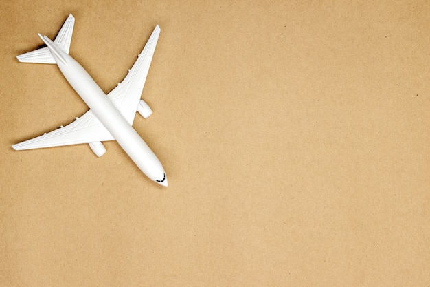 Model plane,airplane on pastel color background Premium Photo