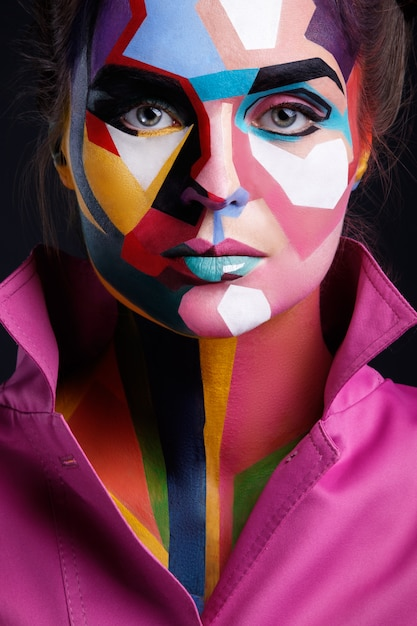 fabulous collection of pop art interior that will catch.htm model with a pop art makeup on her face premium photo  model with a pop art makeup on her face