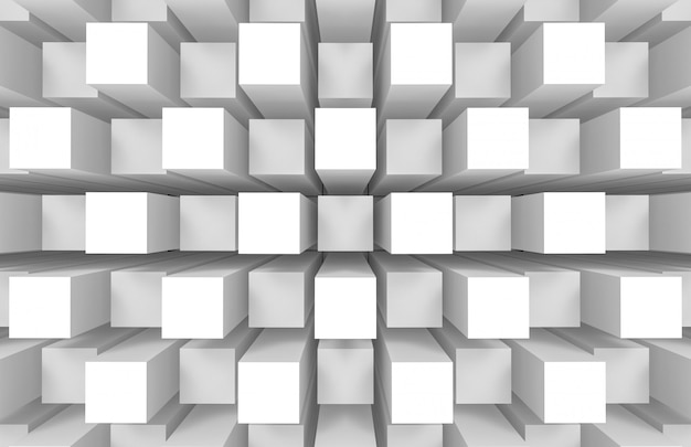 Modern abstract random square cube box bar stack wall Premium Photo