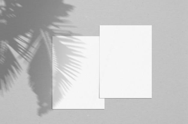 モダンでスタイリッシュなグリーティングカードや結婚式の招待状 Premium写真