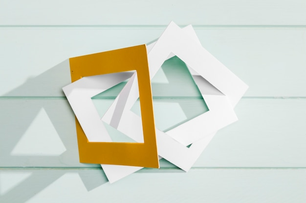 Modern art concept with empty frames Free Photo