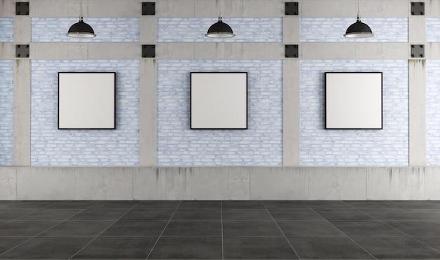 Галерея современного искусства на чердаке Premium Фотографии