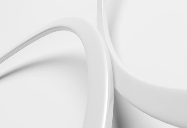 Sfondo moderno con linee rotonde bianche Foto Gratuite