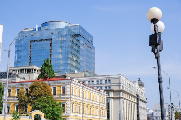 Modern beautiful office building in kiev Premium Photo