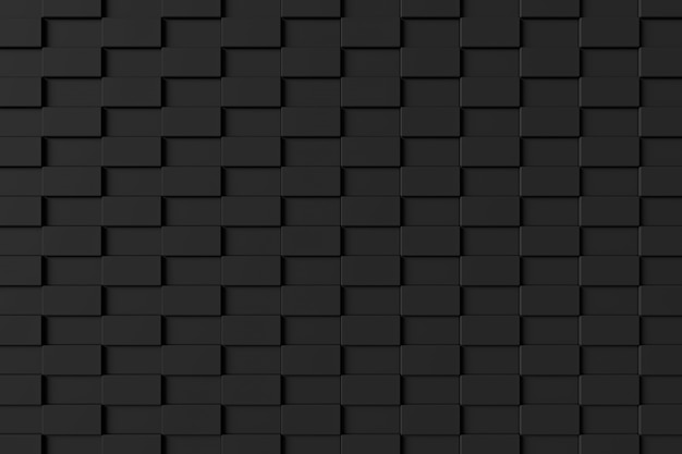 Modern brick wall. 3d rendering. Premium Photo