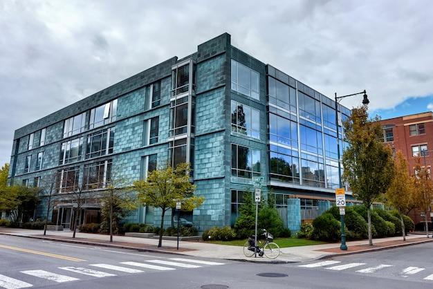 アメリカのモダンな建物 Premium写真