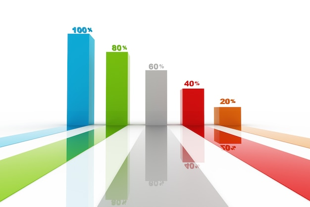 Modern business steps to success charts and graphs options banner Premium Photo