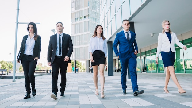 modern business team walking photo free download