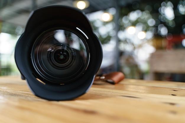 Modern camera lens Premium Photo