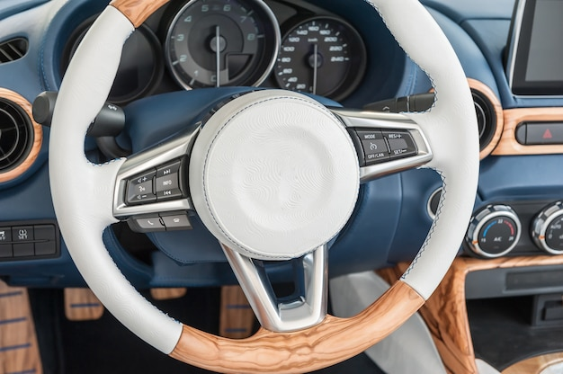 Modern car interior Premium Photo