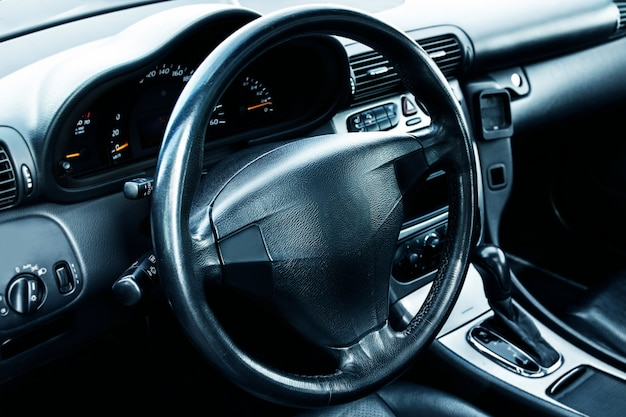 Modern car interior Premium Photo