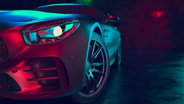 Современные автомобили находятся в комнате студии Premium Фотографии