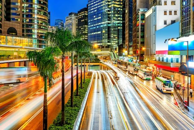 Modern city at night Premium Photo