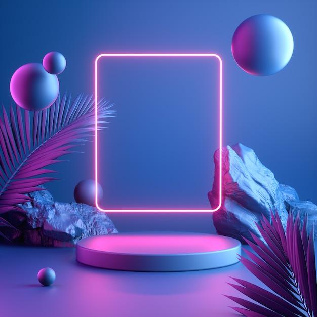 Modern colourful mockup display