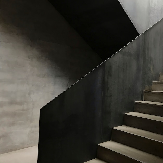 Modern concrete staircase Free Photo
