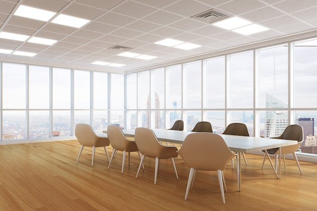 Modern conference room interior Premium Photo