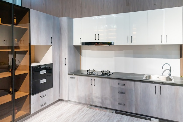 Современная отделка в стиле кухни, дизайн кабинета Premium Фотографии