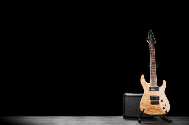 Modern electric guitar Premium Photo