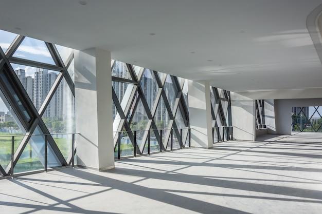 현대 빈 인테리어 건축 디자인 프리미엄 사진