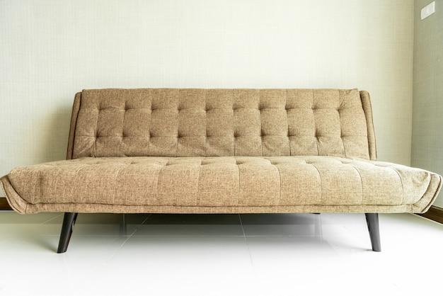 Modern fabric sofa in room Premium Photo