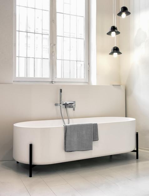 Premium Photo Modern Freestanding Designer Bathtub