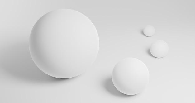 Sfondo geometrico moderno con sfere Foto Gratuite