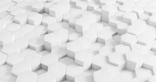 흰색 육각형으로 현대 기하학적 배경 무료 사진