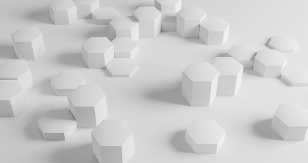 흰색 육각형이있는 현대 기하학적 벽지 무료 사진