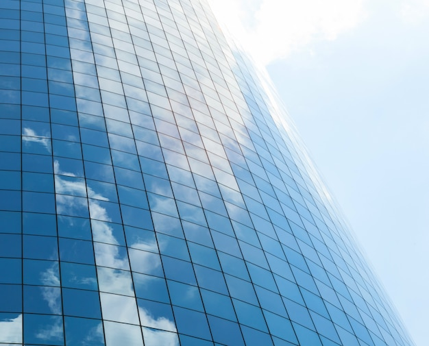 Modern glass skycrapers background Premium Photo
