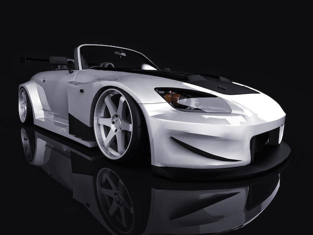Modern gray metallic sports convertible open car with tuning Premium Photo