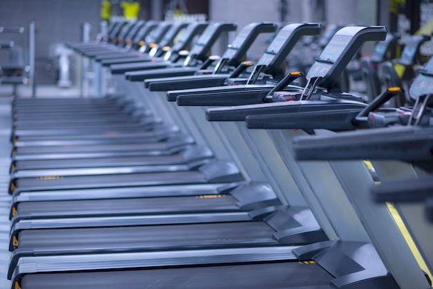 Modern gym interior with equipment Premium Photo