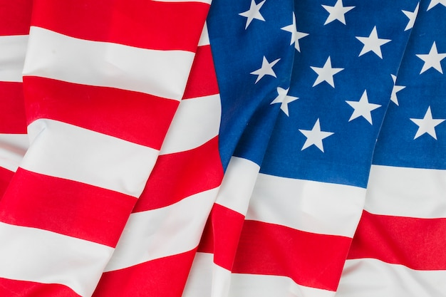 Modern and historical united states flags Free Photo