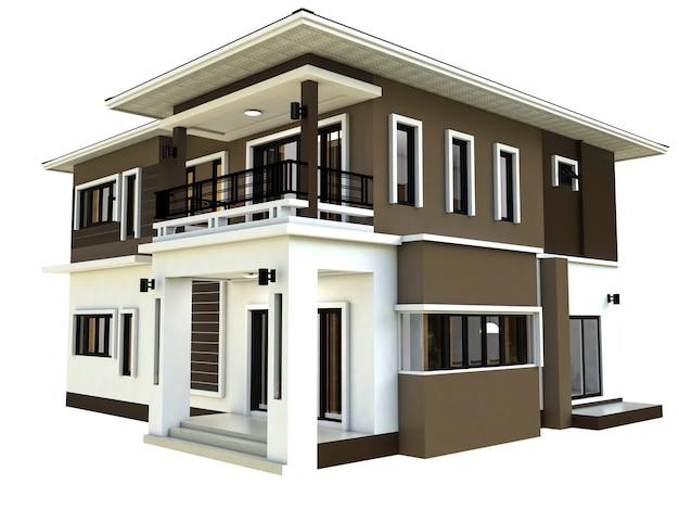 Premium Photo Modern Home Design 3d
