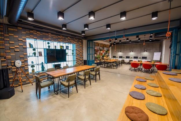 Modern interior design of an office Free Photo