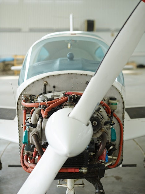 Modern jet airplane Free Photo