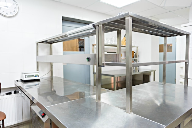 Modern kitchen equipment in a restaurant Premium Photo